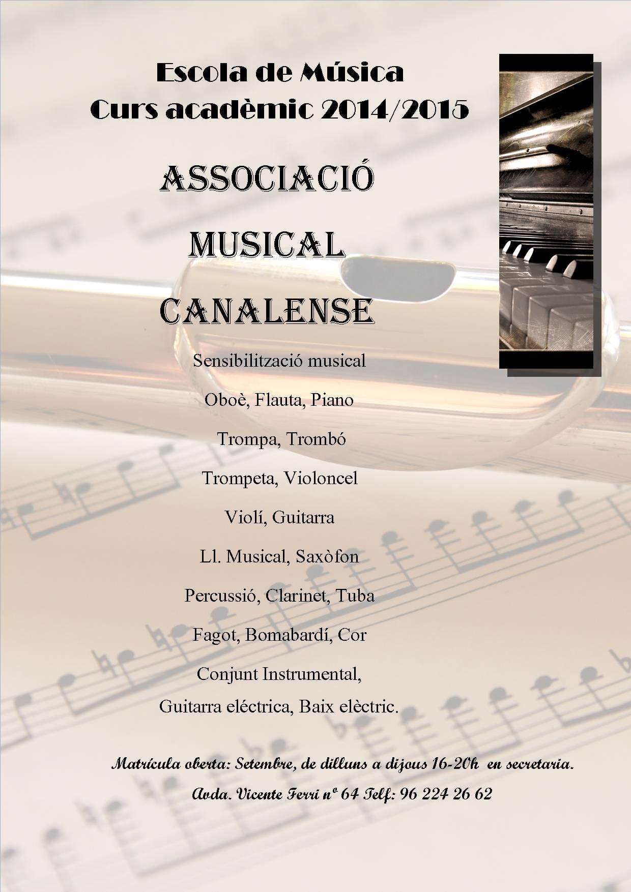 cartell escola de música 2015